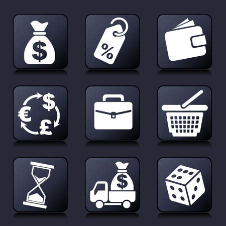 set vector  icons of business and commerce