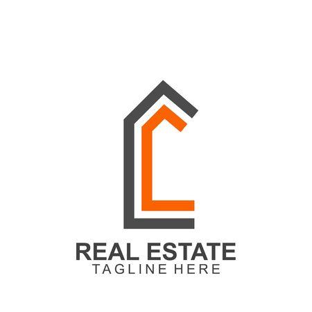 Illustration for Real estate logo design. modern and elegant style design - Royalty Free Image