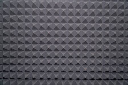 Photo for Soundproofing foam rubber texture with convex triangles in studio - Royalty Free Image