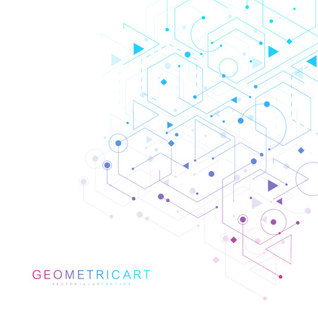 Illustration pour Modern futuristic background of the scientific hexagonal pattern. - image libre de droit