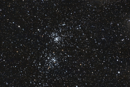 the famous stars double cluster in the constellation of perseus  The image is taken in the i
