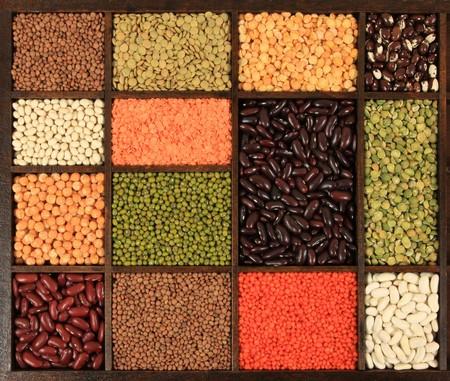 Cuisine choice. Cooking ingredients. Beans, peas, lentils.