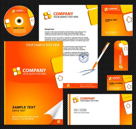 Foto de Editable corporate Identity template 1:  blank, card, pen, cd, note-paper, envelope - Imagen libre de derechos