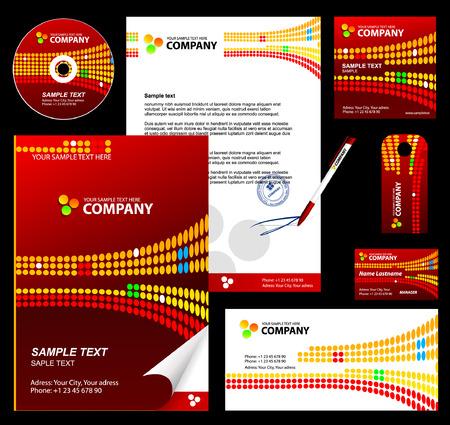 Foto de Editable corporate Identity template 3: red - Imagen libre de derechos