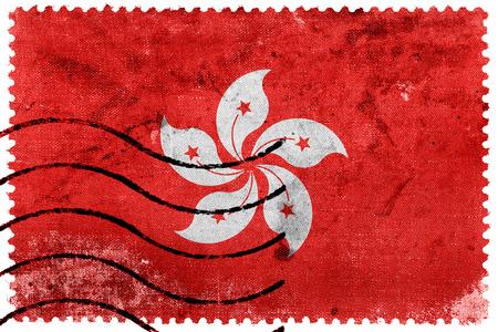 Flag of Hong Kong, old postage stamp