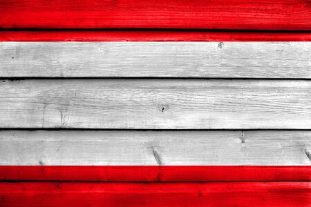 Flag of Antwerp City, Belgium, painted on old wood plank background