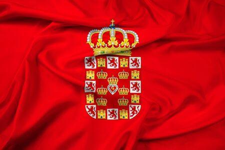 Waving Flag of Murcia, Spain