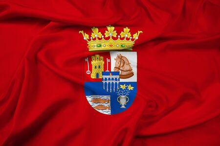 Waving Flag of Segovia Province, Spain