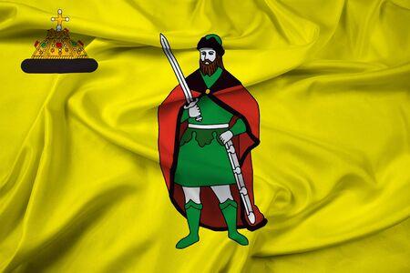 Waving Flag of Ryazan, Russia