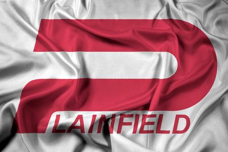 Waving Flag of Plainfield, Indiana, USA