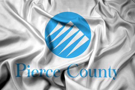 Waving Flag of Pierce County, Washington, USA