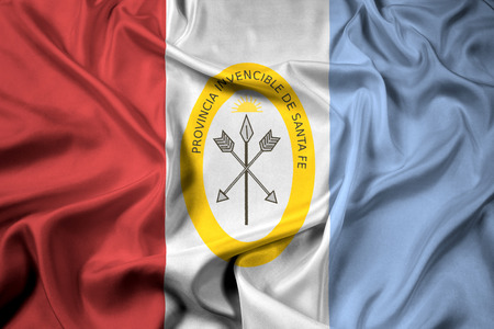 Waving Flag of Santa Fe Province, Argentina