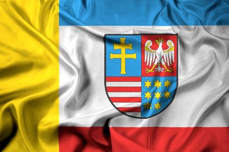 Waving Flag of Swietokrzyskie Voivodeship, Poland