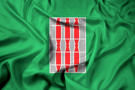 Waving Flag of Umbria Region, Italy