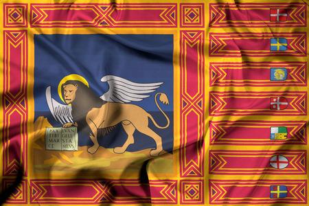 Waving Flag of Veneto Region, Italy