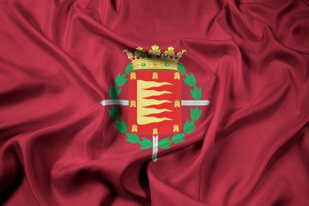 Waving Flag of Valladolid, Spain