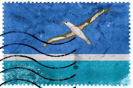 Flag of Midway Atoll (unofficial), old postage stamp