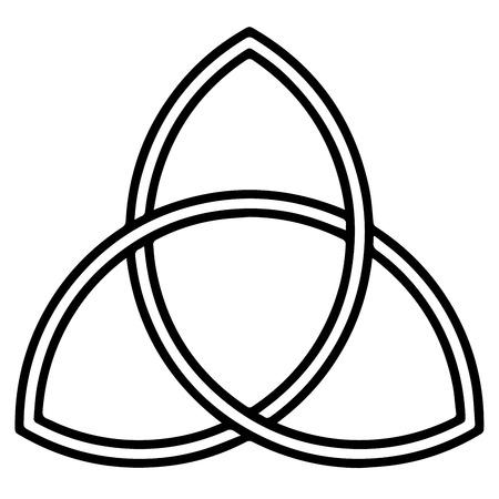 Illustration pour Religious sign. Christianity. Triquetra. Vector Format. - image libre de droit