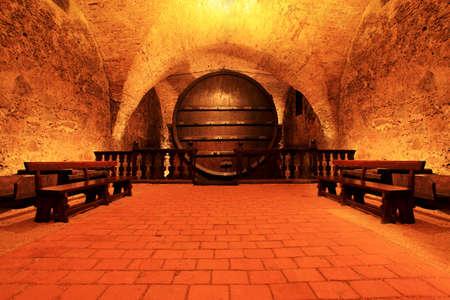Shot of a wine cellar.