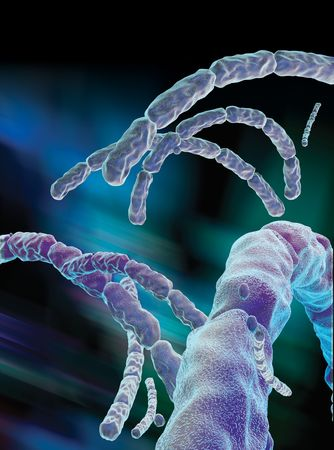 3D rendered conceptualization of Anthrax Virus