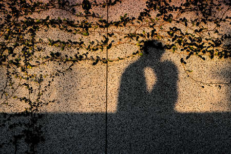 Photo for Romantic Kiss Shadow on Wall - Royalty Free Image