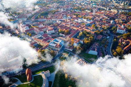 Aerial view of Vilnius, Lithuania.