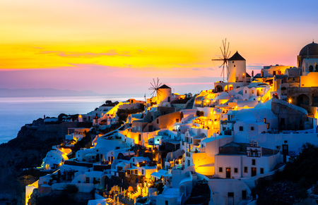 Photo for View of Oia the most beautiful village of Santorini island. - Royalty Free Image