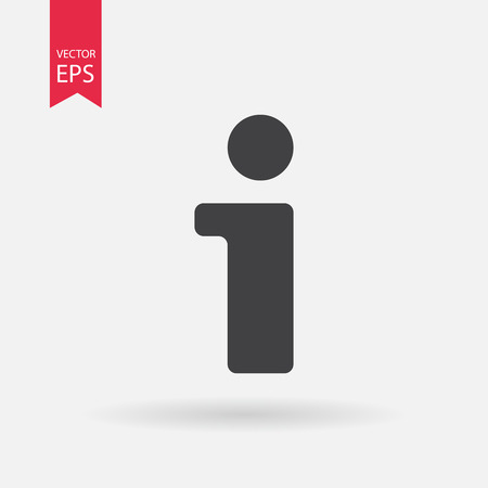 Illustration for Information icon - Royalty Free Image