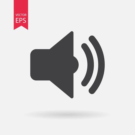 Illustration pour Sound icon vector . Flat design. Sound sign isolated on white background - image libre de droit