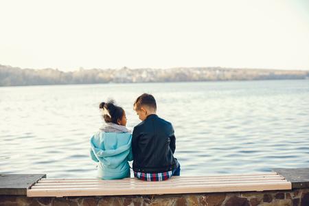 Foto de childrenin a park - Imagen libre de derechos