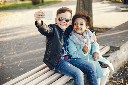 Foto de children in a park - Imagen libre de derechos