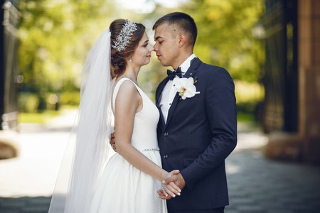Foto de Beautiful wedding couple - Imagen libre de derechos