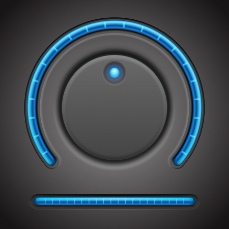 Volume button and timer line vector design element
