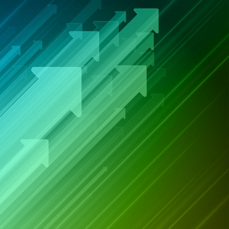 Arrows move up abstract  background