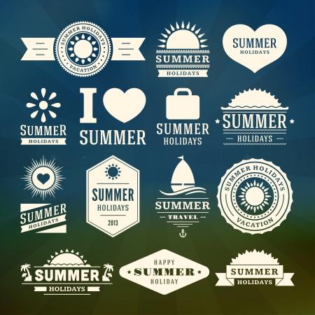 Foto de Retro summer design elements  Vector illustration  - Imagen libre de derechos