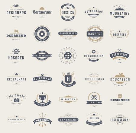 Ilustración de Vintage   Design Templates Set. - Imagen libre de derechos