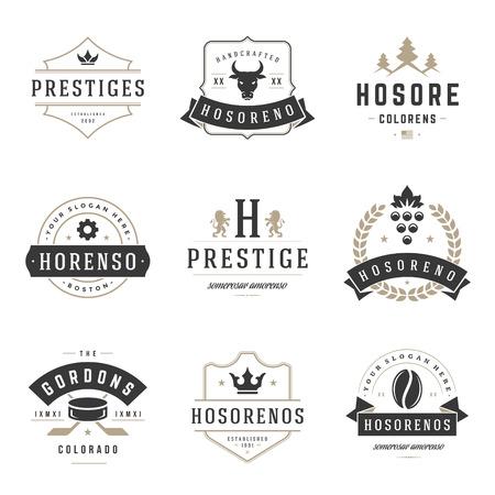 Foto de Vintage   Design Templates Set. Vector   elements collection, Icons Symbols, Retro Labels, Badges, Silhouettes. - Imagen libre de derechos