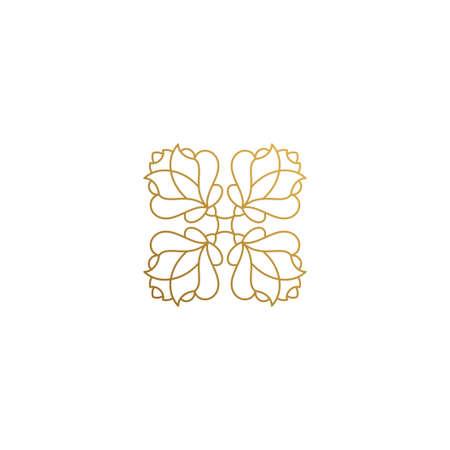 Illustration pour Vector icon of floral ornament hand drawn with thin lines - image libre de droit