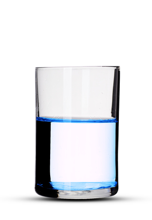 Foto de a glass of water with shadow on a white background - Imagen libre de derechos