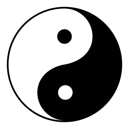 Ilustración de Yin Yang is a symbol of harmony and balance, Black and White Yin Yang Isolated on White Background Illustration - VECTOR - Imagen libre de derechos