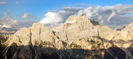 Evening view of gruppo del Sorapis, South Tirol, dolomites mountains, Italy