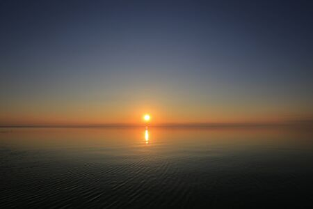 Photo pour Beautiful panorama sunset and sea view - image libre de droit