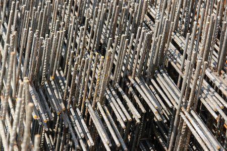 Closeup of steel reinforcement mesh