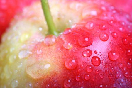 Apple close-up. Shallow DOF