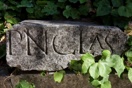 Ancient stone with roman inscription