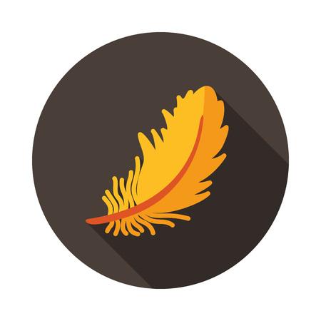 Illustration pour Feather icon. Farm animal sign. Graph symbol for your web site design, logo, app, UI. Vector illustration - image libre de droit