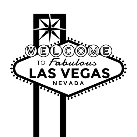 Illustration pour Vector Las Vegas Sign silhouette isolated on white. - image libre de droit