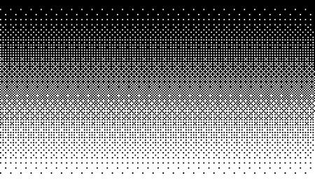 Illustration pour Pixel art dithering background in white and black color. - image libre de droit