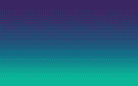 Illustration for Pixel art dithering background in blue colors. - Royalty Free Image