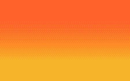 Illustration pour Pixel art dithering background in three colors. - image libre de droit